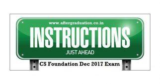 Student Instructions For CS Foundation Programme Dec 2017 Examination