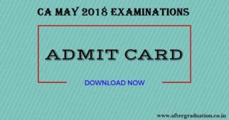 CA May 2018 Examination Admit Cards Released @icaiexam.icai.org; Download Now