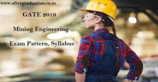 GATE 2019 Mining Engineering Syllabus, Exam Pattern, Scope of mining engineering, best books to prepare Mining engineering GATE 2019