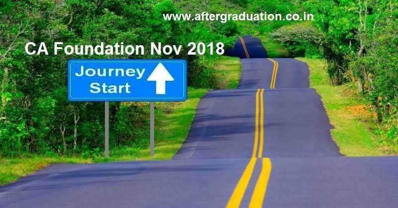 ICAI Announced CA Foundation Nov 2018 Examination Dates And Details