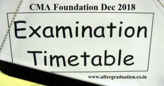 CMA Foundation Dec 2018 Exam Schedule, Application Form: Apply Before the Last Date