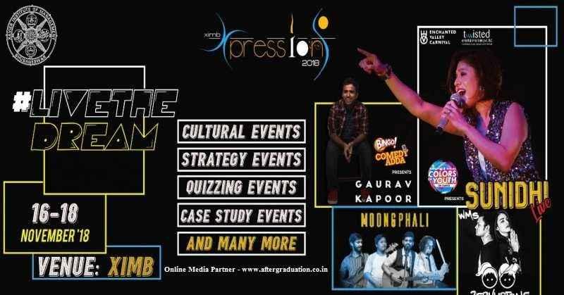 Xpressions 2018 - XIMB Management Cultural Fest to Kick Start Tomorrow