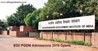 EDII PGDM 2019 Admission Process Begins, Entrepreneurship Development Institute of India, EDII PGDM Admissions 2019