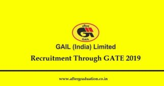 Official notification announces recruitment by GAILfor executive trainees post from engineering disciplines i.e Chemical and Instrumentation through GATE 2019. Application process for GAIL recruitment through GATE 2019 score for Executive Trainee post