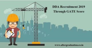 DDA Recruitment 2019 Through GATE Score: DDA announced recruitment of Assistant Executive Engineers (AEE) on the basis of GATE 2019 score.