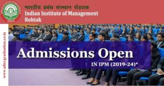 IIM-Rohtak 5-Year Management Programme for Students, cleared 12th class and aim to pursue their career in the field of business management.