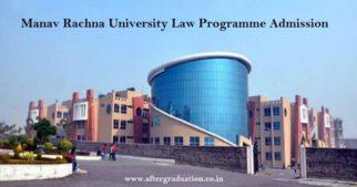 Manav Rachna University (MRU) Opens admission for its UG and PG Law programmes 2019 - BA LLB, BBA LLB, BCom LLB, LL.M (One Year), LL.M (Two Year).