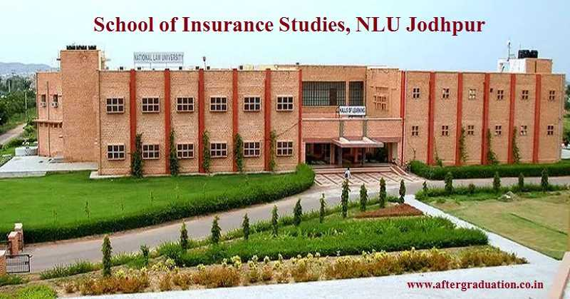 Admission into NLU Jodhpur (SIS) MBA Insurance - 2019, 2-year MBA programme in Insurance will be granted on the basis of CAT/MAT/CMAT scores.