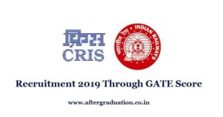CRIS recruitment 2019 through GATE 2019 Score in CS/IT branch for the 50 posts of Assistant Software Engineer (ASE), Check job Eligibility Criteria and other job details