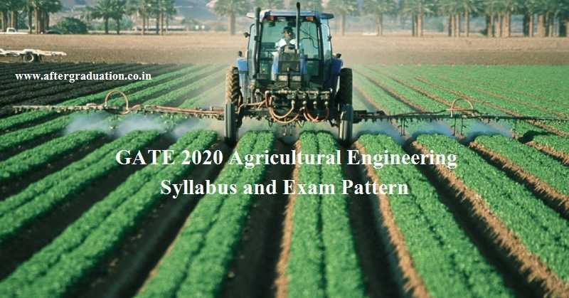 Candidates appearing GATE 2020 Agricultural Engineering(AG)must know GATE exam pattern, GATE 2020 AG syllabus for a better GATE score.