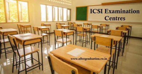 ICSI Examination Centres for Company Secretaries Dec 2020 Session, How to Select ICSI Exam Centres?, ICSI Region-wise Examination Cities for Dec 2020 CS Exams