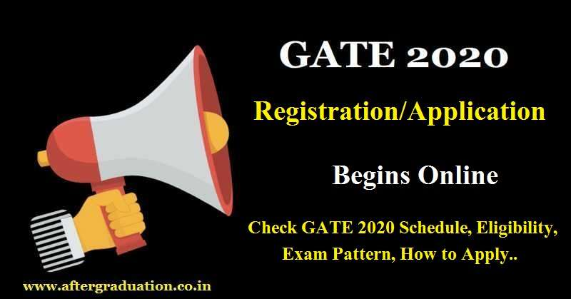 GATE 2020 Registration Process Begins Through gate.iitd.ac.in, check GATE 2020 Exam Schedule, eligibility criteria, exam pattern, how to apply, GATE application form, fees etc