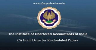 ICAI Releases CA Exam Dates For Rescheduled Papers, The CA exams will be held on Nov 19 and 20 for the exams postponed due to Ayodhya Vedict.
