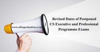 ICSI Announces Revised Dates of Postponed CS Exams of Executive and Professional Programme. Check revised Schedule of CS December 2019 exams