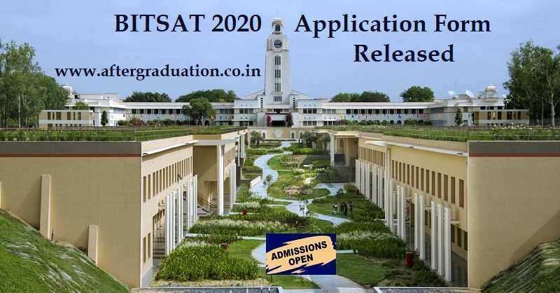 BITS-Pilani has released online BITSAT 2020 application forms for admission to its Integrated First Degree programmes at BITS Pilani, Hyderabad and Goa campuses