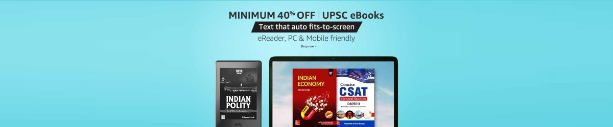 Amazon Books offers, discount on UPSC books, UPSC Preparation books on Amazon