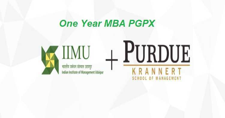 IIM Udaipur PGPX - Dual Degree from IIM Udaipur & Purdue University, USA