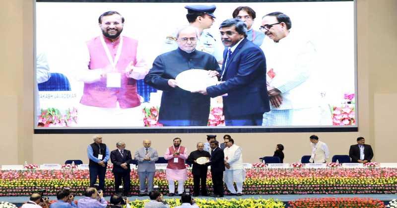 IIM Bangalore Awarded for Massive Open Online Courses (MOOCs) by President of India Shri Pranab Mukherjee