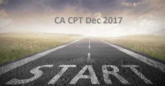 ICAI Announced CA CPT Dec 2017 Examination Date, fees, Application Form, CPT Pattern, passing marks and other details