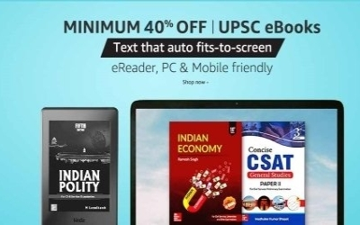 Amazon offers on UPSC Books, UPSC preparation books, Discount on UPSC preparation books on Amazon