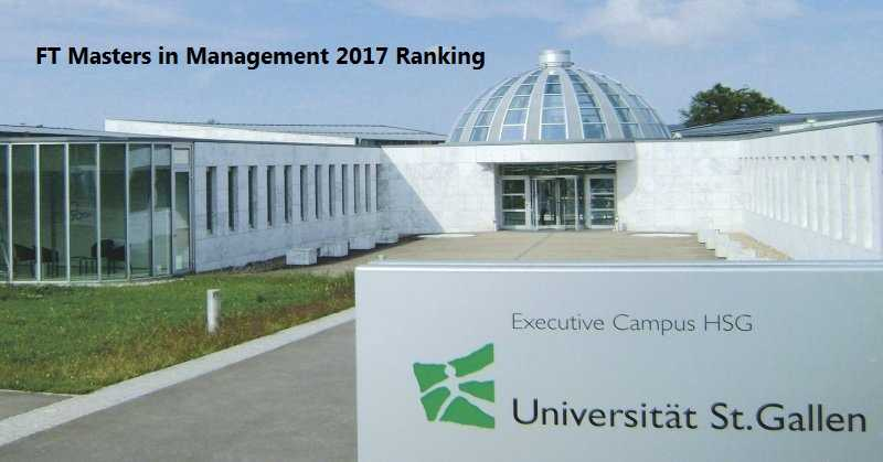 Ft Masters In Management 2017 Ranking Iima Got Down To 21