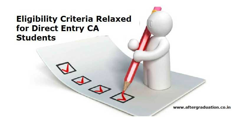 More Relaxation in Eligibility Criteria For Direct Entry CA Students for appearing in Intermediate IPC May 2018 Exam