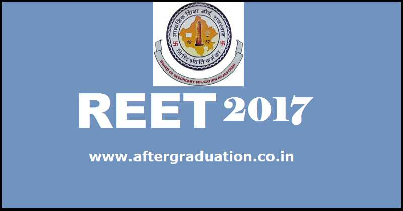 REET 2017 Application Form Submission Starts from 6th Nov for Government teacher post in Rajasthan