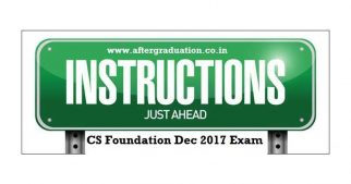 Student Instructions For CS Foundation Programme Dec 2017 Examination