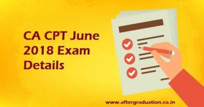 CA CPT June 2018, ICAI Announced 'Common Proficiency Test' Examination Date