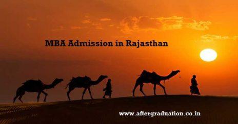 MBA Admission in Rajasthan 2018, Details For Management Aspirants Students