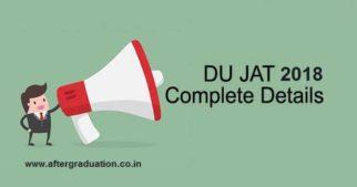 DU JAT 2018 for Admissions to UG Courses at Delhi University's Affiliated Institutes