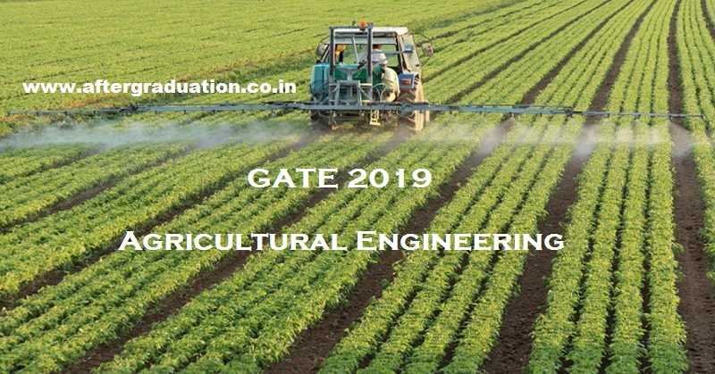 Agricultural Engineering Gate 2019 Exam Pattern Reference