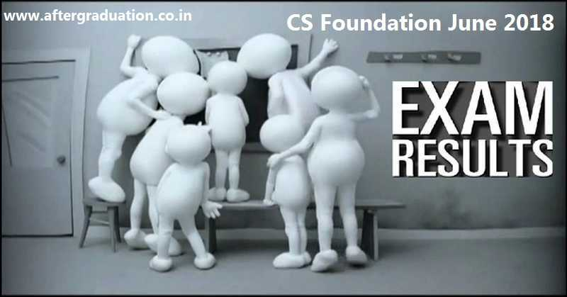 ICSI CS Foundation June 2018 Exam Result Declared, Check CS Foundation June 2018 Results and Merit List