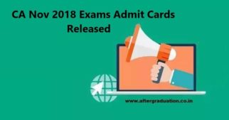ICAI Releases CA Nov 2018 Exams Admit Cards CA Foundation, IPC, Intermediate, Final November 2018 exams @icaiexam.icai.org