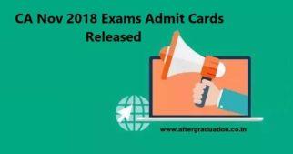 ICAI Releases CA Nov 2018 Exams Admit Cards CA Foundation, IPC, Intermediate, Final November 2018 exams @icaiexam.icai.org