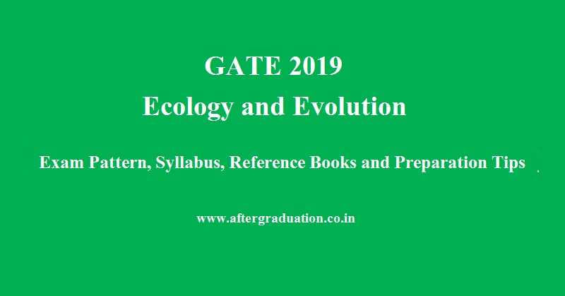 GATE 2019 Ecology and Evolution: Syllabus, Exam Pattern, Books, Preparation Tips