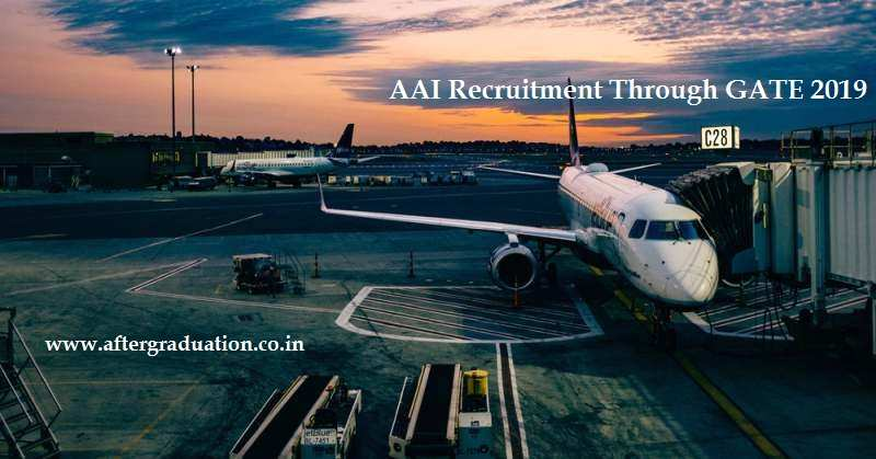AAI Recruitment Through GATE 2019 For Junior Executive Post, Job Openings in AAI through GATE Score