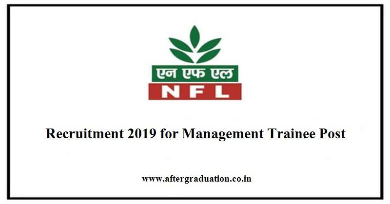 NFL Recruitment through GATE 2019 – National Fertilizers Limited (NFL), a Mini-Ratna PSU will conduct the recruitment of Management Trainees through GATE 2019.