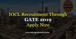 IOCL Recruitment for Engineers through GATE 2019. Check more for Eligibility, Application & Selection Process, Pay Package for IOCL Jobs 2019