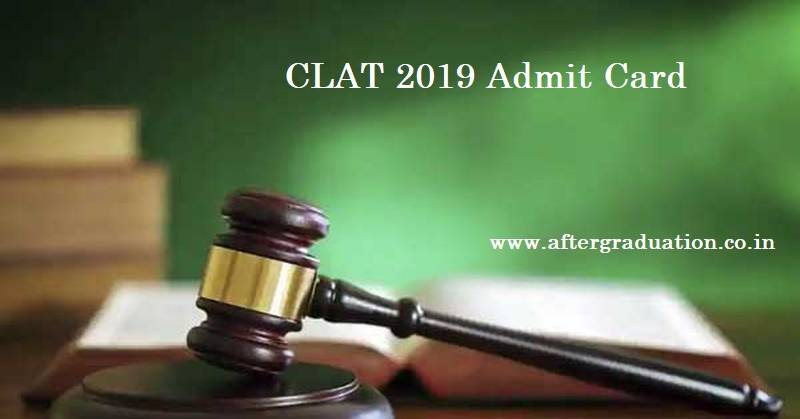 The Consortium of National Law University (NLUs) has released the CLAT 2019 admit card on May 13, for admission into the UG and PG Law degree