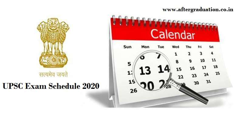 UPSC Exam Schedule 2020: Union Public Service Commission (UPSC) recently released the UPSC Examination calendar 2020 for 25 exams and RTs, UPSC Exams 2020 for government jobs