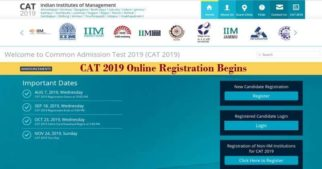 The online registration process for the Common Admission Test, CAT 2019 has started from August 07. MBA aspirants through CAT exam will have more than one month's time to fill the CAT 2019 online application form. CAT 2019 online registration process begins @ iimcat.ac.in and will close on September 18, 2019.