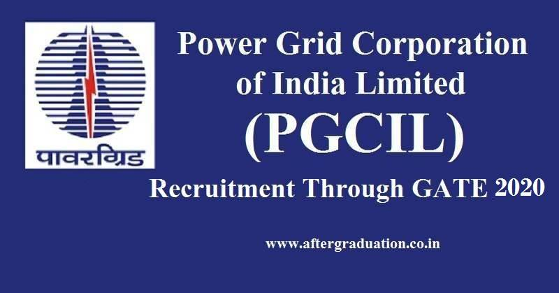 Power Grid Recruitment Through GATE 2020 score For Electrical Engineers. Check Complete article for more information about Power Grid Corporation of India Limited (PGCIL) Recruitment through GATE 2020 - Eligibility Criteria Parameters, Important Dates, the Application process, PGCIL Selection procedure, Pay scale and more