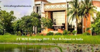 IIM Calcutta ranked as the best B-School in India followed by IIM Ahmedabad, IIM Bangalore, IIM Udaipur and IIM Indore in Financial Times Masters in Management Ranking 2019, St Gallen is ranked number 1 in the 15th edition of FT Masters in Management 2019 Rankings