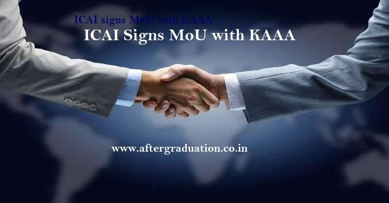 The Institute of Chartered Accountants of India, ICAI signs MoU with KAAA (Kuwait Accountants and Auditors Association) to strengthen Accounting, Finances & Auditing knowledge in Kuwait