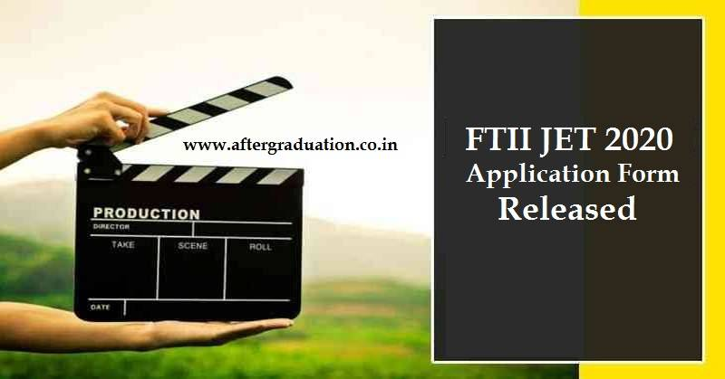 JET 2020 Application Form Released: Check FTII Exam Schedule, Admission Process for the Post Graduate Diploma in the Film and Television Institute of India (FTII) and SRFTI Kolkata.