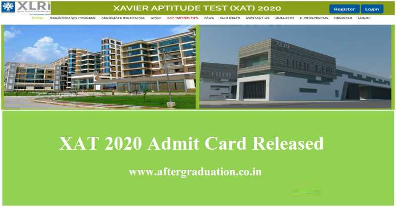 XLRI Jamshedpur has released the XAT 2020 admit card for the coming MBA Entrance exam XAT 2020 to be held on January 5.Imp Instructions for XAT 2020, step to download XAT admit card 2020, XAT 2020 exam pattern