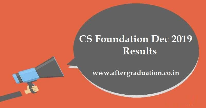 CS December 2019 Results: TheInstitute of Company Secretaries of India(ICSI) will announce CS Foundation Dec-2019 Result on January 25, 2020