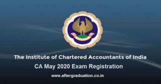 CA May 2020 Registration Process Begins, Check the registration process for ICAI CA Foundation, Intermediate and Final May 2020 examination