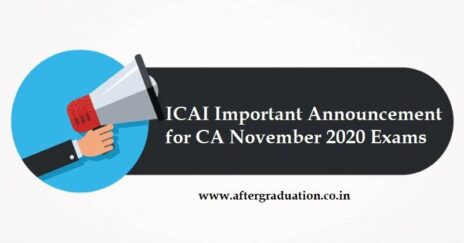 Institute of Chartered Accountants of India, ICAI Announcement Regarding CA November 2020 Examinations schedule in the wake of Bihar Assembly and Other Elections, CA Nov 2020 exam timetable